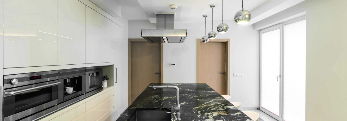 Marble Benchtop with Lighting