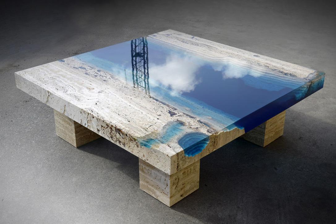 Resin U0026 Marble Tables By Alexandre Chapelin