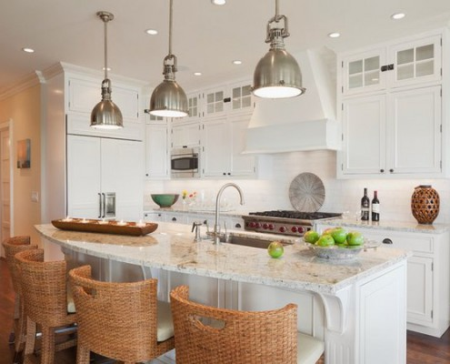 Granite Benchtop with white kitchen cabinetry