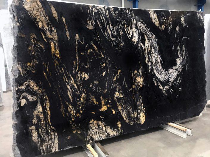 Titanium Gold Granite polished slab