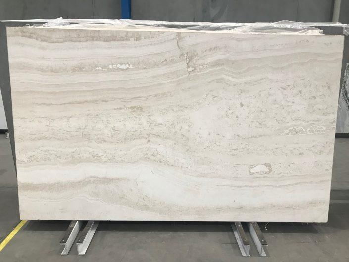 Travertine Super White slab