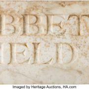Scan of Ebbets Field Marble Natural Stone Slab