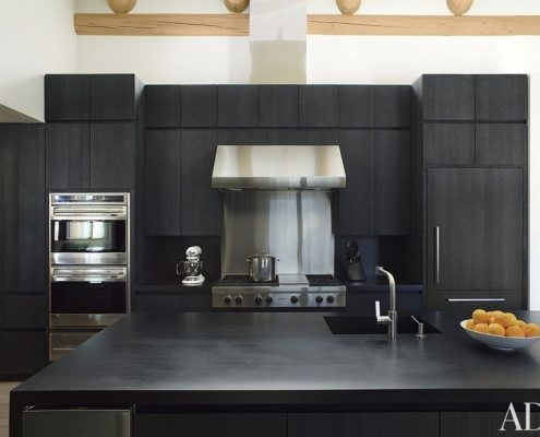 Jet Black granite kitchen benchtop
