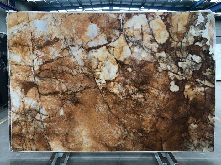 Crystallo Bronze Quartzite slab